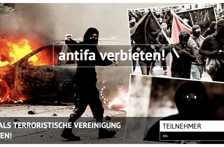 Antifa als terroristische Vereinigung verbieten!